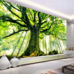 Custom 3D Photo Wallpaper Tree Forest Large Mural Wall Painting Art Living Room Non-woven Fabric Wallpaper For Bedroom Walls