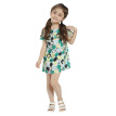 Girls Dress Brand Baby Girls Summer Casual Clothes Silk Cotton 2018 New Arrival Print Mini Shoulderless Party Dresses Loose