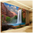 Custom 3d mural Natural landscape waterfall scenery wallpaper TV background wall painting living room sofa study wallpaper mural