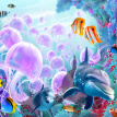 3D Cartoon Underwater World Dolphin Fish Jellyfish Wall Mural Photo Wallpaper For Walls Custom Bedroom Wall Paper TV Background