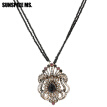 Ethnic Festival Gift Long Seed Bead Flower Necklace Sets Turkish Antique Gold Hollow Pendant Necklace Indian Vintage Jewelry