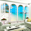 Custom 3D Photo Wallpaper European Style Arches Sea Living Room TV Background Non-woven Wall Paper Murales De Pared 3D Wallpaper