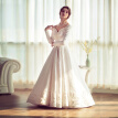 Satin Embroidery Vintage Ball Gown Wedding