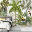 Custom 3D Wall Mural Wallpaper Tropical Rainforest Green Plants Hand-painted Oil Painting Living Room Sofa Background Wall Paper