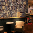 3D photo wallpaper Retro metal letters 3D wallpaper Bar Cafe western restaurant milk tea shop background wallpaper custom mural