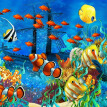 Photo Wallpaper 3D Stereo Cartoon Tropical Fish Underwater World Mural Wallpaper Custom Non-Woven Wallpaper Papel De Parede 3D