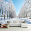 Custom Size 3D Wall Murals Wallpaper Winter Snow Tree Road Living Room TV Backdrop Painting Wall Covering Wall Papers Home Decor