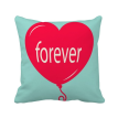 Forever Red Green Heart Valentine's Day Square Throw Pillow Insert Cushion Cover Home Sofa Decor Gift