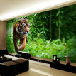 Custom Photo Wall Paper 3D Tiger Living Room TV Background Wall Mural Large Wall Painting Non-woven Wallpaper For Bedroom Walls