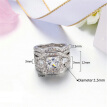 Luxury Fashion Silver Color 3 Pieces Ring Sets AAA+ CZ Cubic Zirconia Engagement Rings For Women R643