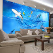 Custom photo wallpaper 3D ocean underwater fish wallpaper living room sofa TV background wallpaper large mural