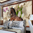 3D Stereoscopic Horse Broken Wall Wallpapers For Bedroom Living Room Sofa Background Wall Mural Custom Non-woven Photo Wallpaper