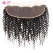 Alot Good Quality Virgin Brazilian Curly Hair Frontal Lace Closure 13*4 Virgin 100% Human Hair Kinky Curly Frontal Lace Closure