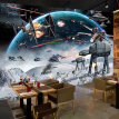 Custom Photo Wall Paper 3D Stereo Cartoon Shock Star Wars Mural Kid's Room Cafe KTV Backdrop Wallpaper For Walls 3 D Papel Tapiz