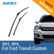 "SUMKS Wiper Blades for Ford Transit Custom 30""&28"" Fit Push Button Arms 2012 2013 2014 2015 2016"