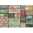 Custom photo wallpaper Vintage 3D wood letters large mural casual Cafe Bar Restaurant sofa background wallpaper mural