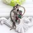 Vintage Banquet Brooch Women Turkish Jewelry Antique Gold Color Multicolor Resin Flower Brooches Broches Ladies Hijab Scarf Pin