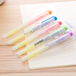 Deli 6 color double-headed two-color highlighter highlight mark pen handbook available watermark pen 5 / box