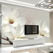Modern Simple Fashion Lily Flower Large Wall Painting Custom Any Size 3D Wall Mural Wallpaper Background Decor Photo Wall Paper