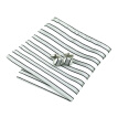 N-0428 Vogue Men Silk Tie Set White Stripe Necktie Handkerchief Cufflinks Set Ties For Men Formal Wedding Business wholesale