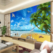 Custom 3D Photo Wallpaper Wall Painting Sea View Mediterranean Style Beach Seaside Landscape Living Room Sofa Mural Wall Paper