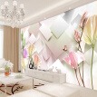 Custom Mural Wallpaper Modern Fashion 3D Stereoscopic Tulip Flower Mural Living Room Bedroom TV Background Wall Painting Paper