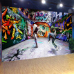 3D Wallpaper Abstract Art Hip-hop Graffiti Wall Painting Photo Murals KTV Bar Cafe Clubs Personalized Customization Wallpaper 3D