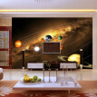 Customize Personality 3D Photo Wallpaper Living Room Sofa Backdrop Murals Modern Solar System Planet Landscape Mural Wall Papers