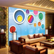 Custom Mural Wallpaper 3D Stereoscopic Circles Abstract Flower Tree Murales De Pared 3D Children's Room Bedroom Wallpaper Walls