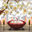 Custom Photo Wallpaper 3D Stereoscopic Relief Magnolia Flower TV Background Wall Decor Mural Living Room Bedroom Wall Painting