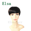 Short Bob Natural straight Lace Front Human Hair Wigs For Black Women 100% Brazilian none Lace Wig with Baby Hair wigs