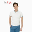 INTERIGHT V-neck special yarn dry and clean color business men's T-shirt white M