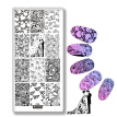 Nail Art Stamping Plates Wedding Season Stamp Template Rings Wedding Dress Love Design Nail Art Template Script Image Plate C36