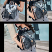 2018 Summer New Pattern Bucket Jelly Package Fashion Trend Transparent Bag Mosaic Female Bag The Single Shoulder Bag
