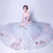 Flower Fairy Sexy Hollow Embroidery Pastels Tulle Ball Gown Wedding
