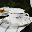 Enjoy European ceramic coffee cup set Phnom Penh creative 3-piece bone china cup spoon scoop British style