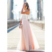Women's Vintage Floral Lace Chiffon Wedding Bridesmaid Evening Party Maxi Dress