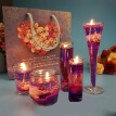 Gong Xun Valentine's Day Jelly Candle Gift European Creative Smokeless Aroma Romantic Christmas Marriage Birthday White Candlelight Dinner Gift Arrangement Gift Decoration Purple Ocean Suit
