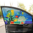 Fun car sun shade magnetic car curtain universal car sunscreen insulation side window sun block underwater world - front row of driving position