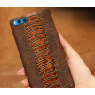 Genuine Leather Phone Case For Xiaomi Mi Note 3 Case Ostrich Foot Texture Back Cover For Redmi 4 4X 5 5A Case