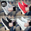 Men's fashion Super light breathable Shock absorption Leisure sports shoes Running shoes flat loafers Walking shoes
