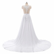 Beach Wedding Dresses 2018 A-Line Side Slit Elegant Lace Appliques Chiffon Plus Size Wedding Bridal Gowns Dress Vestido De Noiva