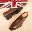 British-style men business dress shoes pointed leather shoes