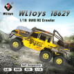 WLtoys 1/18 2.4G 4WD Racing RC Car Electric Crawler Truck Off Road Remove Control Toys