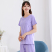 Little nurse pajamas, home clothes, men and women, summer wear, short-sleeved home service, ZST008, loose light purple XL (175/105)