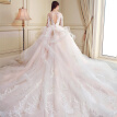Hollow Back Embroidery Elegant Swan Ball Gown Wedding Dress Skirt Length Can Be Customized