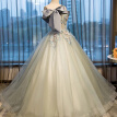 Colorful Backless Ribbon Bow Ball Gown Wedding