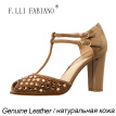 2015 F.LLI.FABIANO New Womens High-heel Shoes T-Strap Fish-mouth with Sparkling Diamond Sandals ZR3031 Fashioable and Elegant