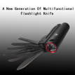 Mulifunctional Mini LED Flashlight Swiss Army Knife Torch Self Defense Survival Emergency Light Outdoors Life-saving Camping Light
