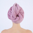 Sanli dry hair cap/towel 25x67cm purple